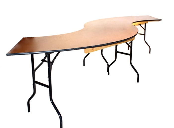 Serpentine table eventhaus rentals for Table th nth