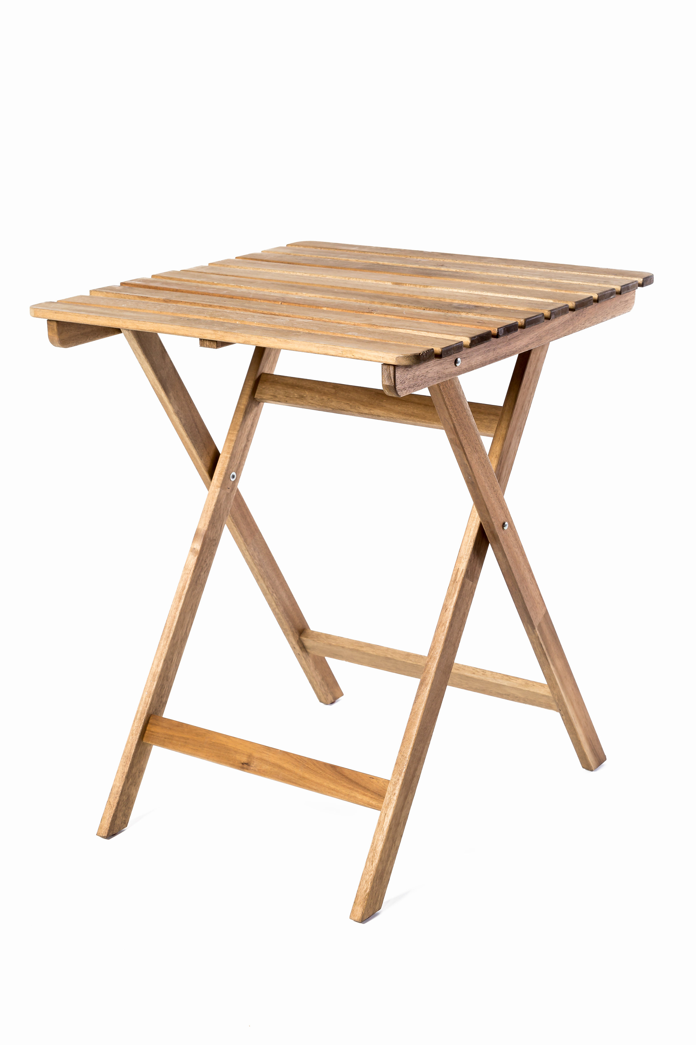 Slatted Wood Folding Table Eventhaus Rentals