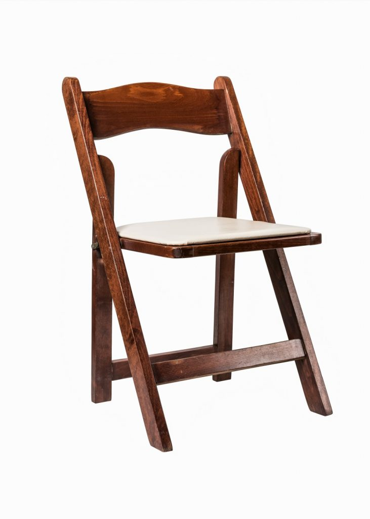 Folding Chair Mahogany with Tan Seat Cushion  sc 1 st  EventHaus Rentals & Folding Chair: Mahogany with Tan Seat Cushion - EventHaus Rentals